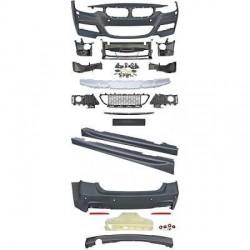 KIT COMPLET LOOK PACK M BMW SÉRIE 3 F30 BERLINE (11-15) PARE CHOC AVANT - ARRIÈRE - BAS DE CAISSE