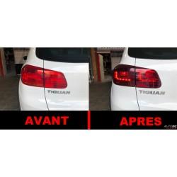 Set de feux arrières look LED rougé fumé VW Tiguan 5N (11-15)