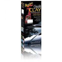 Système Gomme Quik Clay Meguiar's (Produit décontaminant 473ml + gomme 80gr)
