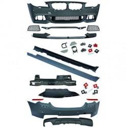KIT COMPLET LOOK M PERFORMANCE BMW SÉRIE 5 F10 LCI BERLINE (13-16) PARE CHOC AVANT-ARRIÈRE-BAS DE CAISSE
