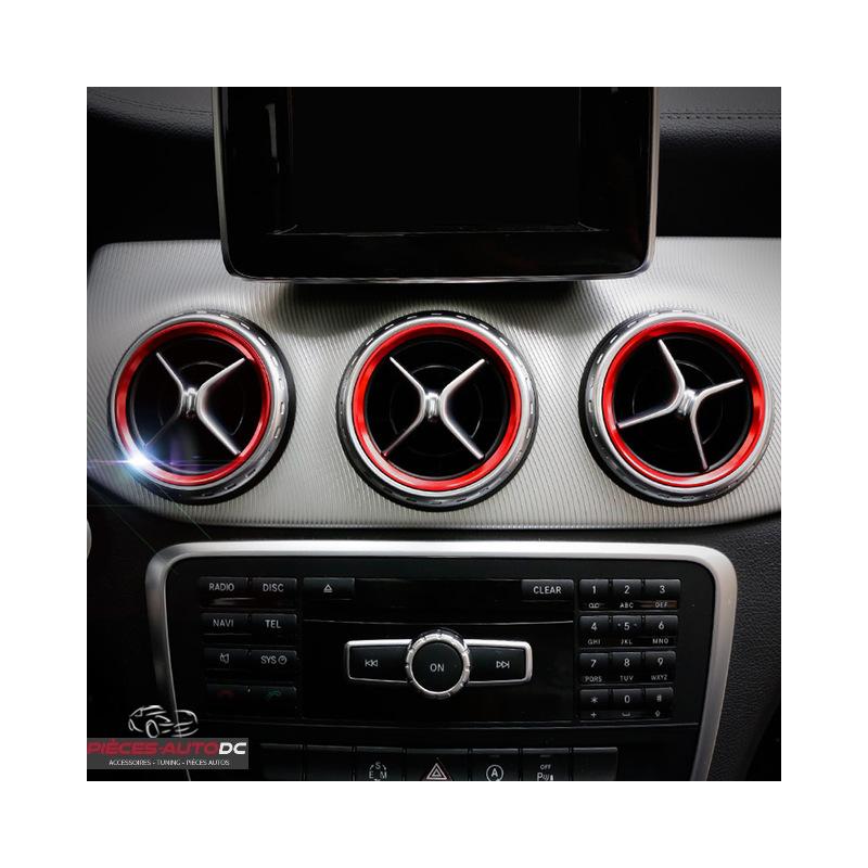 Mercedes Benz A B CLA GLA AMG Luftdüsen ANNEAU VENTILATION alu rouge
