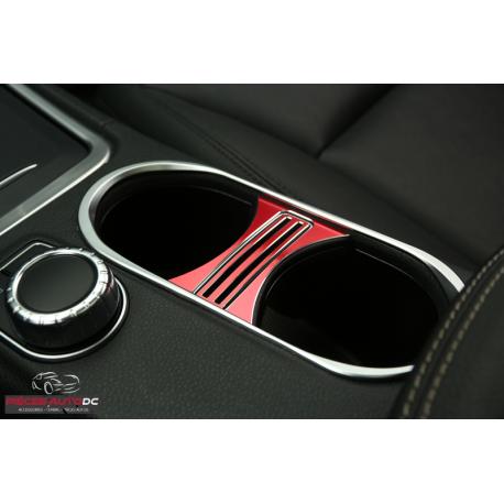 Aluminium Rahmen Getränkehalter Rot für Mercedes A, B, CLA und GLA