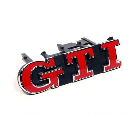 LOGO GTI ROUGE CLUBSPORT POUR CALANDRE AVANT GTD GTI POUR VW GOLF VII (12-19) + POLO 6C (14-17) - ROUGE - ORIGINE VW