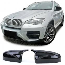 Coques rétroviseurs noir brillant look X5M X6M pour BMW Série X5 E70 (07-13) - X6 E71 (08-14)