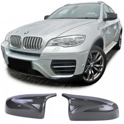 Coques rétroviseurs look carbone look X5M X6M pour BMW Série X5 E70 (07-13) - X6 E71 (08-14)