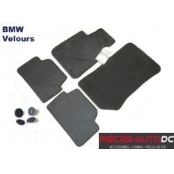 TAPIS DE SOL VELOURS D'ORIGINE BMW POUR BMW SERIE 1 E81 - 3 PORTES - E82 COUPE - NOIR - TEXTILE - 4 PIECES