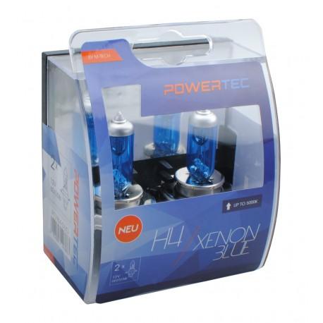 SET DE 2 AMPOULES HALOGENES POWERTEC EFFET XENON H7 12V DUO