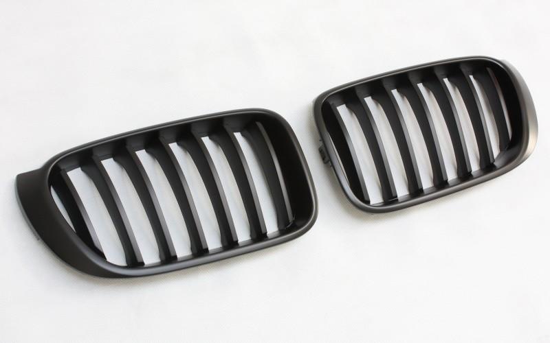 Grille Décorative Calandre Kit Pour BMW F26 X4 à Partir De 2014 Noir Mat L+R
