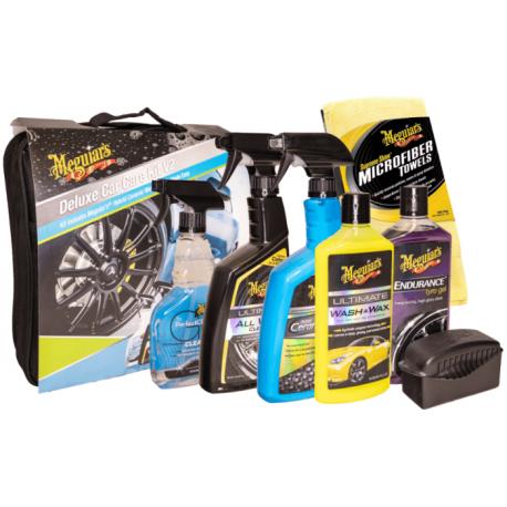 Pack deluxe Meguiar's - 5 Produits & 3 Microfibre & Pad pour gel du brillant pneus - Avec sac Meguiar's!