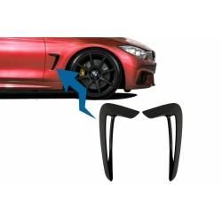 SET DE DEUX ECOPES D'AILES LOOK X5M NOIR BRILLANT POUR BMW SERIE 4 F32 F33 F36 (14-20)