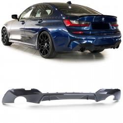 DIFFUSEUR ARRIERE - BAS DE PARE-CHOCS M-PERFORMANCE LOOK CARBON POUR BMW SERIE3 G20/21 (18-21) - AVEC PACK M
