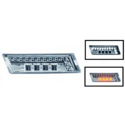 SET DE DEUX CLIGNOTANT DEISIGN AILE AUDI A3 (03-08) + A4 (00-07) + A6 (97-04) - LED - CHROME - AVEC FEUX DE JOURS