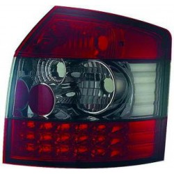 SET DE DEUX FEUX ARRIERE DESIGN AUDI A4 (00-04) - BREAK - MOD 2 - ROUGE/NOIR - LED