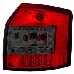 SET DE DEUX FEUX ARRIERE DESIGN AUDI A4 (00-04) - BREAK - MOD 3 - ROUGE/NOIR - LED