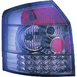 SET DE DEUX FEUX ARRIERE DESIGN AUDI A4 (00-04) - MOD 2 - NOIR / FUME - LED
