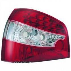 SET DE DEUX FEUX ARRIERE DESIGN AUDI A3 (96-00) - MOD 4 - LED - ROUGE/BLANC