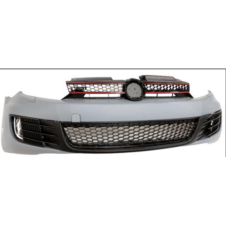 PARE CHOC AVANT LOOK GTI VW GOLF 6 (08-12) - COMPLET - AVEC CALANDRE GTI