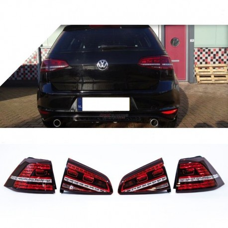 set de feux arriere look gti gtd vw golf 7 12 16 avec. Black Bedroom Furniture Sets. Home Design Ideas