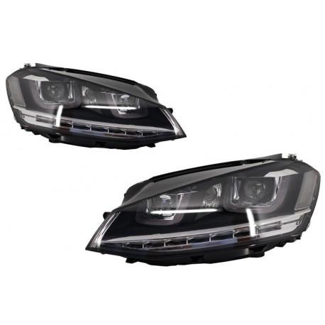set de deux phares avant look xenon modele gte golf 7. Black Bedroom Furniture Sets. Home Design Ideas