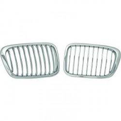 SET Calandre chrome - grille pour BMW E46 (98-01) Berline - Touring + Compact (01-05)