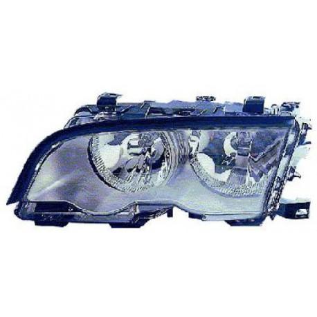 PHARE AVANT DROIT HALOGENE BMW SERIE 3 E46 BERLINE/TOURING (98-01) - FOND GRIS TITANE