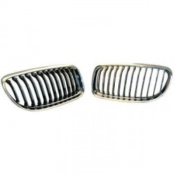 SET CALANDRE CHROME - GRILLE BMW SÉRIE 3 (08-11) E90 - E91 (BERLINE - TOURING)