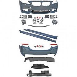 Kit complet look pack M pour BMW série 5 F10 berline (10-13) Pare-chocs avant-arrière-bas de caisse