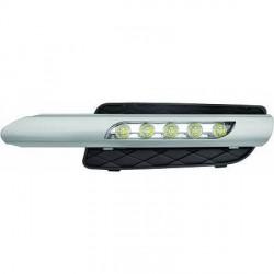 2 grilles de pare-chocs feux de jour LED chrome pour BMW X5 E70 phase 1 (07-10) - pare-choc normal
