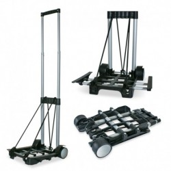 Chariot, plate-forme pliable et ajustable: 23-36 cm x 22 cm, charge maximum: 30kg