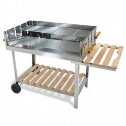 Acier inoxydable Barbecue Grill barbecue charbon voiture barbecue 136x60x93 XXL