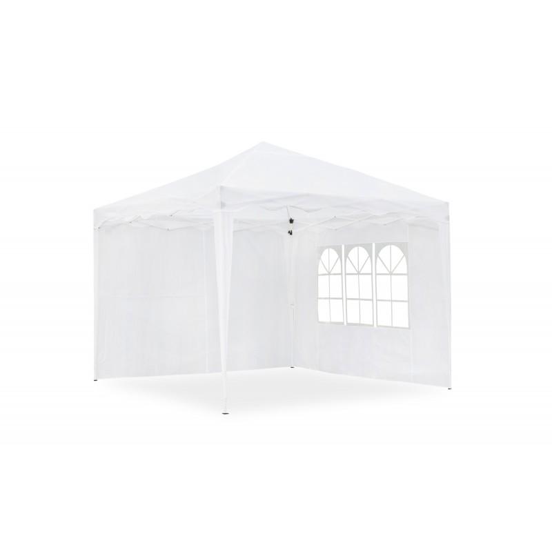 barnum de jardin 3 x 3 m pliable blanc mat riau oxford 200d avec parois lat rales et sac de. Black Bedroom Furniture Sets. Home Design Ideas