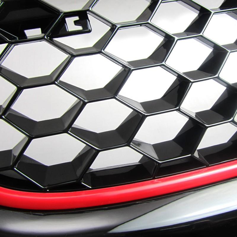 calandre jom vw golf 5 03 08 look gti sans sigle. Black Bedroom Furniture Sets. Home Design Ideas