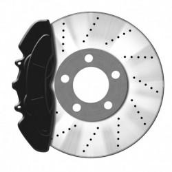 Kit peinture d'étrier de frein, noir, 1 composante, peinture d'étrier de frein 75ml, nettoyant de freins 250ml, brosse et gants