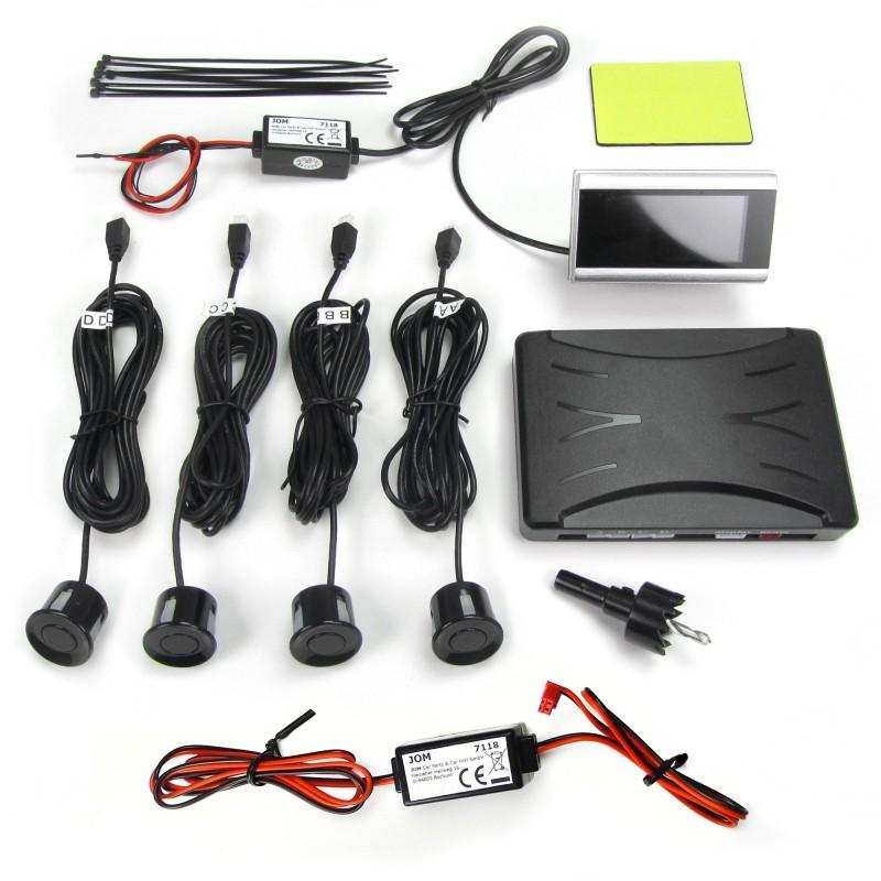 radar de recul sans fil avec 4 capteurs et un petit cran lcd avec system accoustique autodc. Black Bedroom Furniture Sets. Home Design Ideas