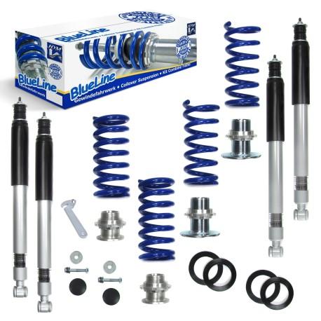 Kit combiné fileté JOM Blueline pour Mercedes Benz SLK R170, 200, 200 Kompressor, 230 Kompressor, 320, 32 AMG (1996-2004)