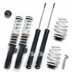 NJT eXtrem kit combiné fileté, réglable en hauteur et en dureté, BMW E46 4+6 cyl. + Touring 98-05, fileté/ressort