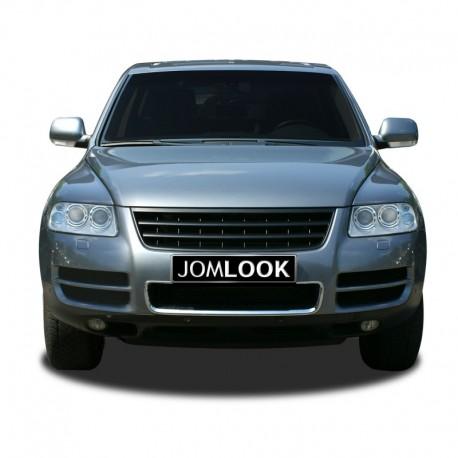 Calandre, JOM, VW Touareg (7L) 02-06, sans sigle, noir (modèle avant facelift)