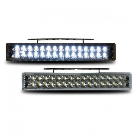 Feux diurnes 12V, avec 30 LED, clair/chrome, avec homologation RL87, avec relais, allumage automatique, 190x30x25mm