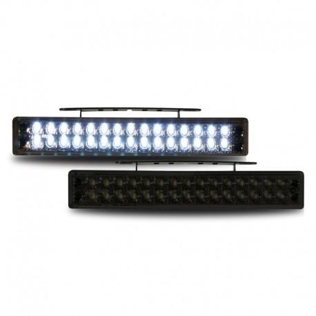Feux diurnes 12V, avec 30 LED, clair/noir, avec homoloagtion RL87, allumage automatique, 190x30x25mm