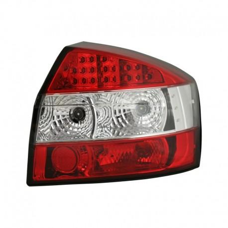 Feux arrière, LED, Audi A4 01-04, rouge/clair