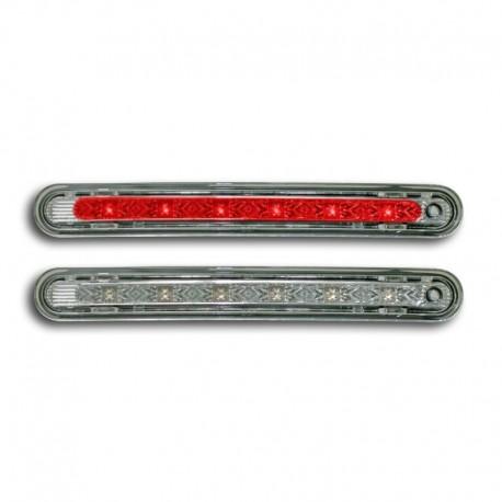 3ème feu de stop à LED, Peugeot 207, 6 LED, face lisse/chrome