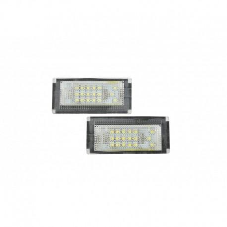 Éclairage de plaque d'immatriculation, 2 pièces, Mini Cooper R50 02-06, R52 (Convertible) 04-06, R53 (Coopers) (01-06)