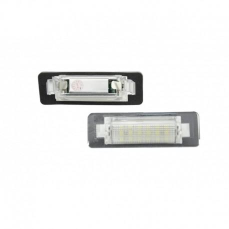 Éclairage de plaque d'immatriculation, 2 pièces, Mercedes-Benz W210 4D Limo, W202 4D Limo Facelift (97-00)