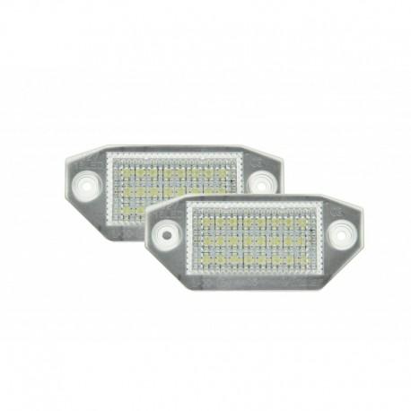 Éclairage de plaque d'immatriculation, 2 pièces, Ford Mondeo MK3 2000-2007 (5 portes)
