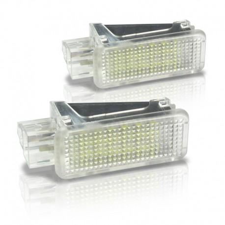 Éclairage intérieur à LED, 2 pièces, Audi  A2/ A3 / A4 / A5 / A6 / A8 / Q5 / Q7