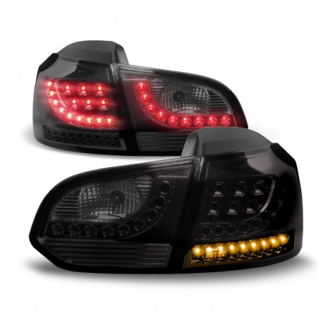 feux arri res a led vw golf 6 08 12 noir autodc. Black Bedroom Furniture Sets. Home Design Ideas