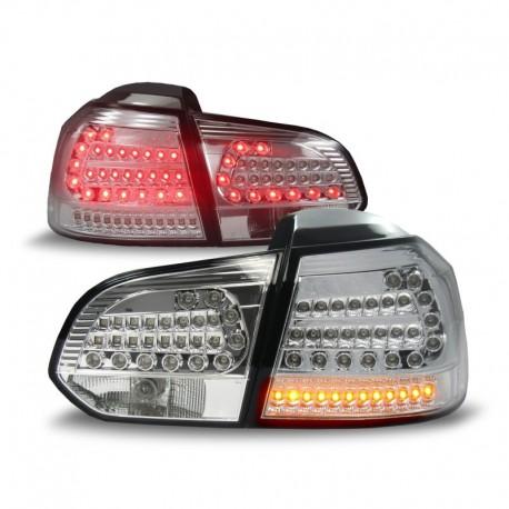 Feux arrière Urban style, VW Golf 6 08-12, LED, clignotants et feux de stop aussi à LED, chrome