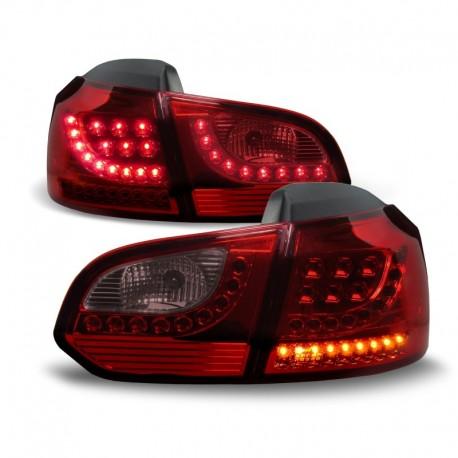 Feux arrière, LED, VW Golf 6 08-12, nouveau design, rouge foncé