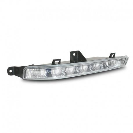 Feux diurnes à LED, Mercedes W221 classe S, 06-11, conviennent uniquement au pare-chocs réf. 221807103JRS, chrome, 5 LED/côté