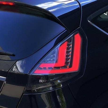 Feux arrières, Ford Fiesta (Type JA8) 2013-, barre lumineuse/ LED, noire/clair